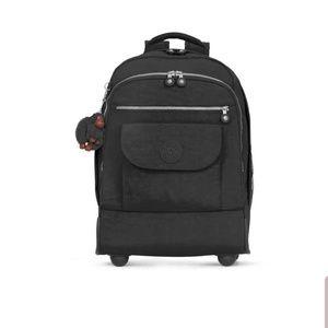 Kipling Black Sanaa Rolling Backpack